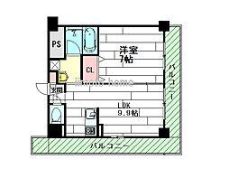 クレアテージ[2階]の間取り