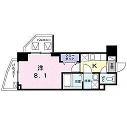 東京メトロ東西線 葛西駅 徒歩10分の賃貸マンション 4階1Kの間取り