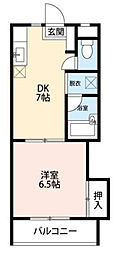 第13島田マンション[2階]の間取り