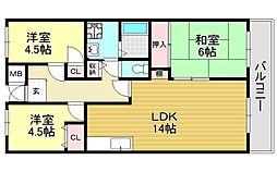 シティハイム平成[1階]の間取り