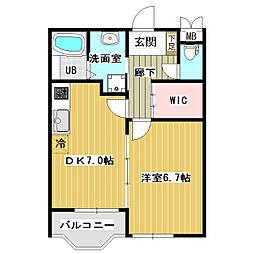 レジデンスK6[1階]の間取り