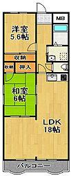 千葉県柏市十余二の賃貸マンションの間取り