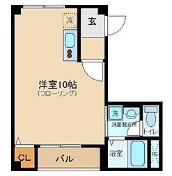 カーサ東新宿[101号室]の間取り
