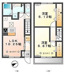 [テラスハウス] 東京都府中市多磨町2丁目 の賃貸【/】の間取り