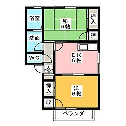 サニーガーデンC[2階]の間取り