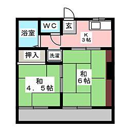 北野桝塚駅 4.2万円