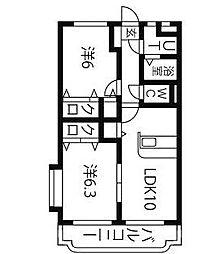 ユーミークアトロ III[2階]の間取り