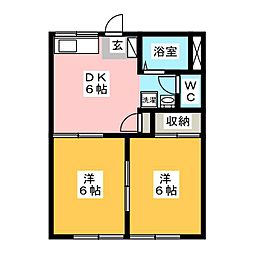 パールハイム[2階]の間取り
