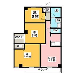 フレアシティM[2階]の間取り