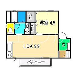 シャーメゾンリーヴァ[2階]の間取り