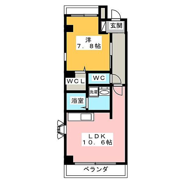 アヴァンセ・丘Ⅱ[3階]の間取り