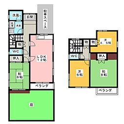 [一戸建] 愛知県名古屋市緑区横吹町 の賃貸【愛知県 / 名古屋市緑区】の間取り