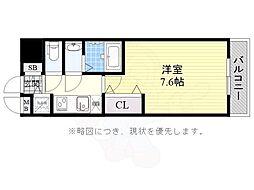 JR東海道・山陽本線 兵庫駅 徒歩14分の賃貸マンション 9階1Kの間取り