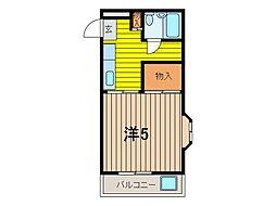 ハイツ南浦和[3階]の間取り