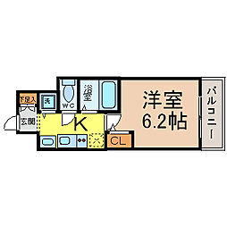 プレサンス鶴舞公園WEST[4階]の間取り