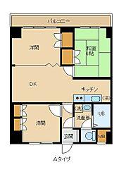 竹ノ塚ロジュマン[5階]の間取り