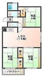 垂水高丸住宅6号棟[3階]の間取り