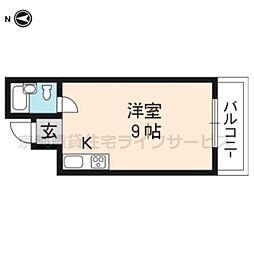 リトルハウス東山[4-B号室]の間取り