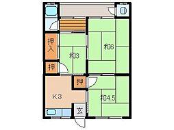 島本マンション[2階]の間取り