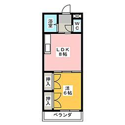 第5シャトー猪高台[4階]の間取り