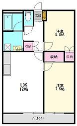 千葉県成田市公津の杜3丁目の賃貸マンションの間取り