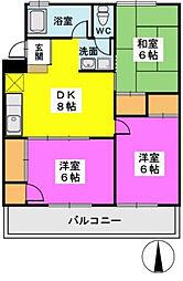 第一城戸ビル[4階]の間取り