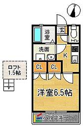 ダム・ド・香椎壱番館[202号室]の間取り