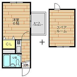 フィアス梅香[5階]の間取り
