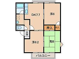 リバーコート和歌山[2階]の間取り