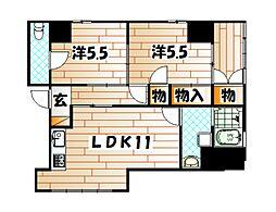 ピエドラブランカ昭和町[1階]の間取り