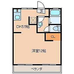 鈴木グリーンハイツA棟[1階]の間取り