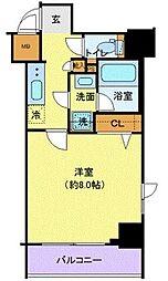 京王線 府中駅 徒歩6分の賃貸マンション 3階1Kの間取り