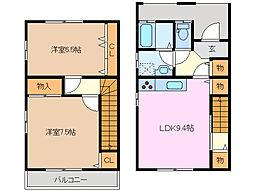 [テラスハウス] 三重県鈴鹿市算所5丁目 の賃貸【/】の間取り