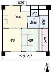 ハイツ東桜[9階]の間取り