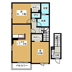 カレント昭和[2階]の間取り