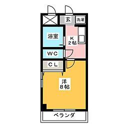 ドルフ亀島II[2階]の間取り