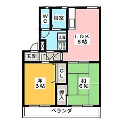 レコルト福田 I号館[1階]の間取り