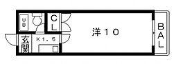 リッツハウス イソヤマ[16号室号室]の間取り