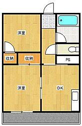 新原第5マンション[302号室]の間取り