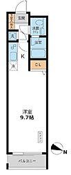 東京都目黒区目黒4丁目の賃貸マンションの間取り