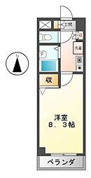 愛知県名古屋市中区伊勢山2丁目の賃貸マンションの間取り