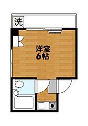 内田コーポ[302号室]の間取り