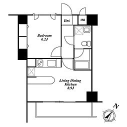 Roppongi Residences ロッポンギレジデンシーズ[3階]の間取り