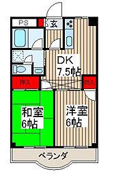 ラポールマンション[3階]の間取り
