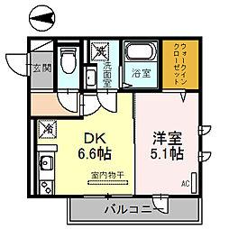 JYOHOKU欅STREET[0203号室]の間取り