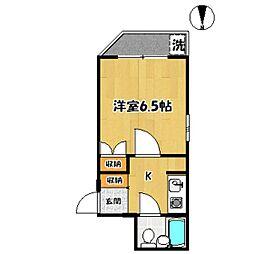 東京都世田谷区北烏山3丁目の賃貸マンションの間取り