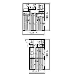 東京都板橋区向原1丁目の賃貸マンションの間取り