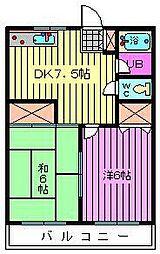 藤ハイツ[203号室]の間取り