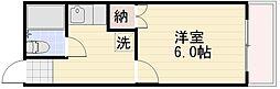長野県長野市大字鶴賀七瀬南部の賃貸アパートの間取り