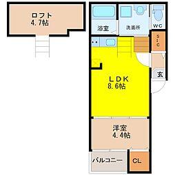 仮称)坂井戸町コーポ[2階]の間取り